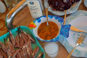 Sea food and ouzo